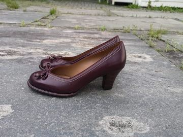 Bilde av originals clarks pumps Burgunder