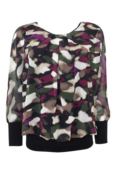 Bilde av Jillian blouse Grønn,purple,off white,sort