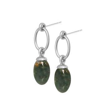 hengende-ørepynt-med-indisk-grønn-agat-matt-sølv