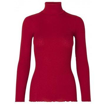 silke-polo-rød