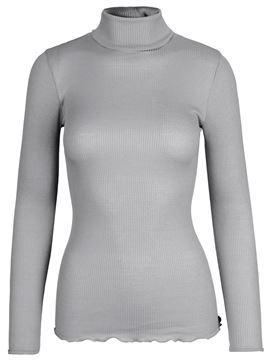 silke-polo-grå
