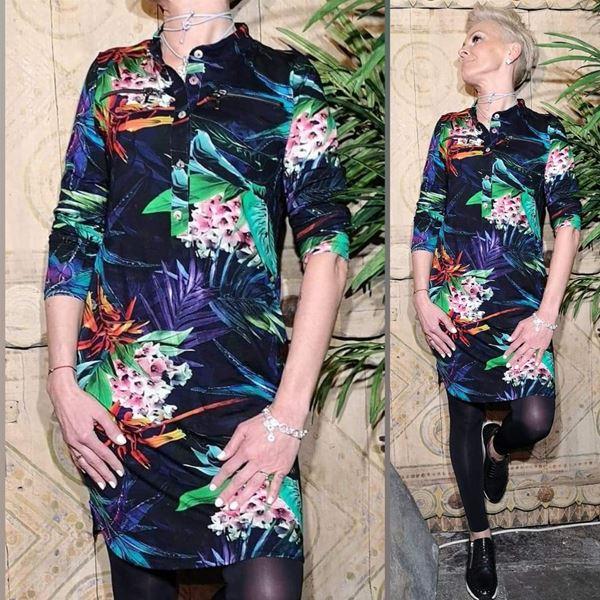 4a2146722 Shirt dress palme fargerik