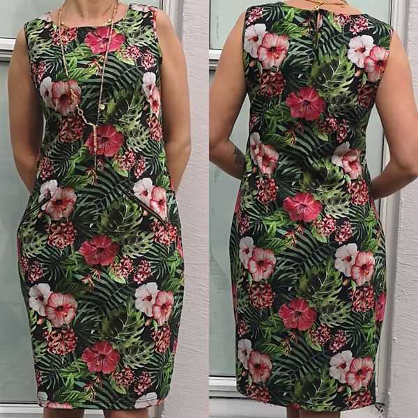 hawai-rose-kjole-sort