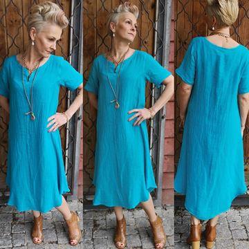 turkis-skjønnhet-kjole-turkis
