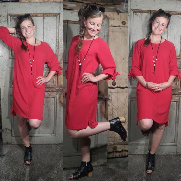 Bilde for kategori Sommer rød kjole 💕