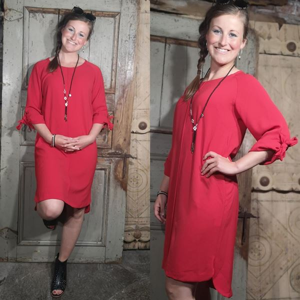perle-kjole-rød