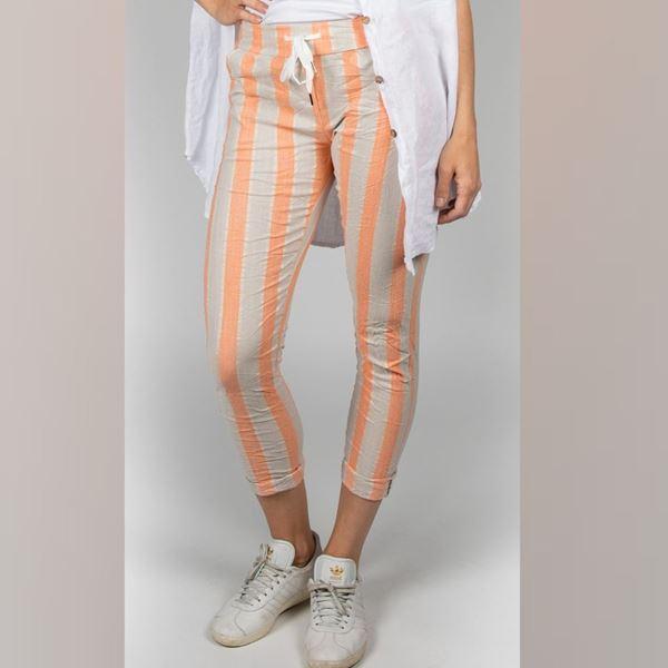 stripes-bukse-papaya