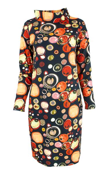 adventure-kjole-sort-mmultifarget-print