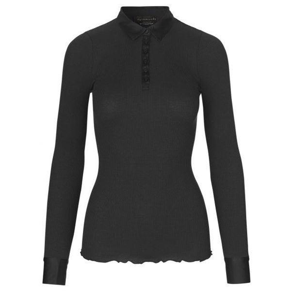 silkeskjorte-sort