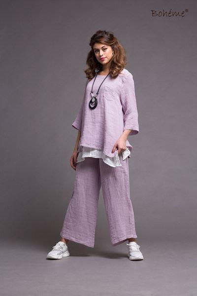 ZIP ZAP. lang lin jakke lavendel lilla