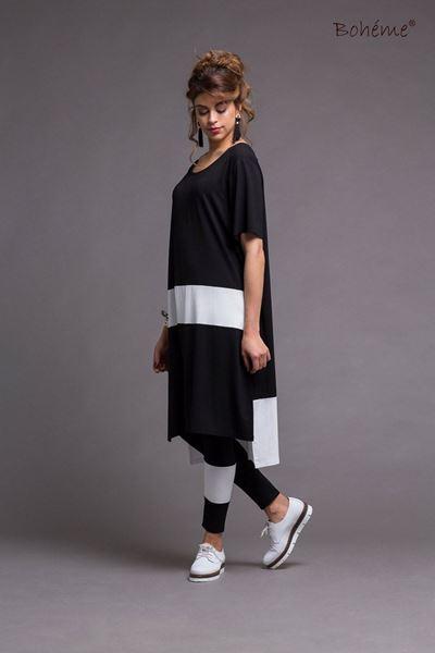 stripe-kjoletunika-sorthvit