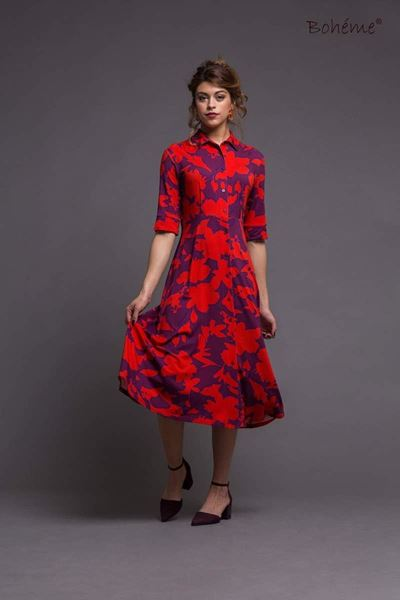 retro-kjole-rødlilla