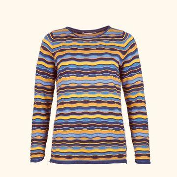 bølge-genser-blå