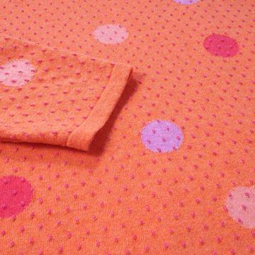 sirkeldot-genser-orange
