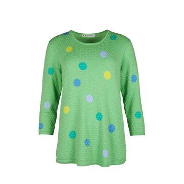 sirkeldot-genser-grønn