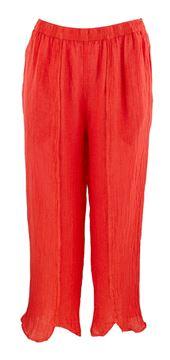 lin-bukse-med-splitt-oransje