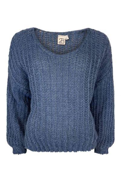 mohair-jeansblå