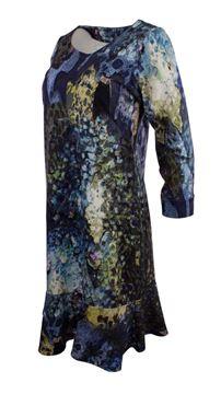 kjole-med-kappe-blå