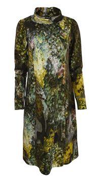 kjole-med-krage-oliven