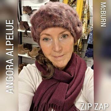 Bilde av Angora alpelue Plomme/natur mix